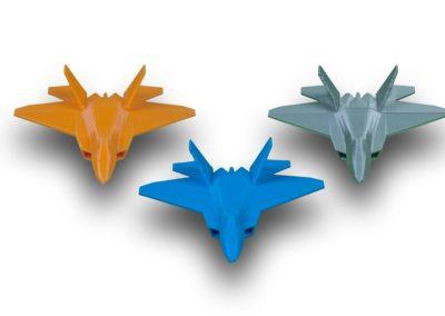 3D Printed F22 Raptor Combined